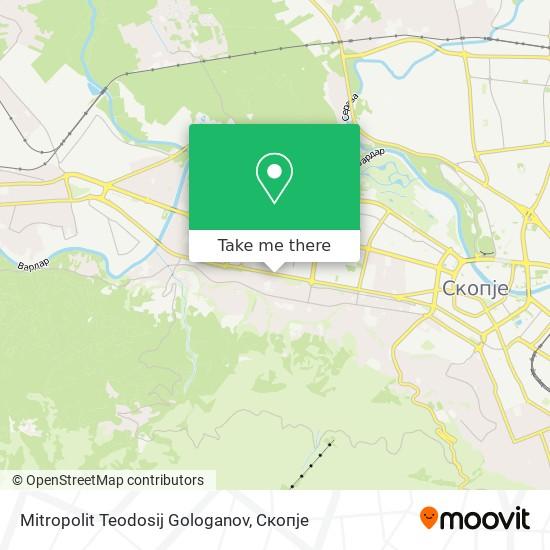 Mitropolit Teodosij Gologanov map