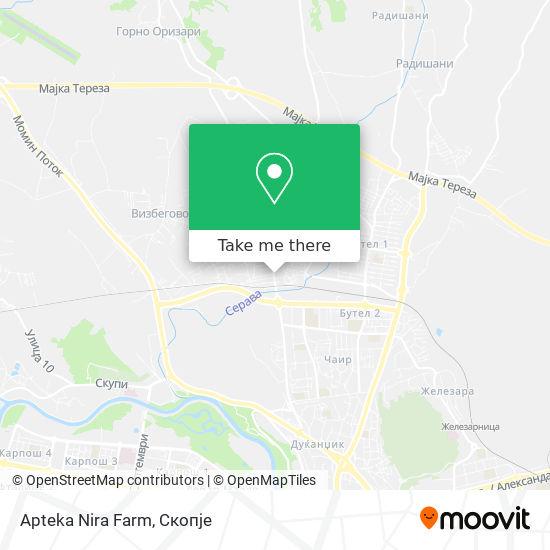 Apteka Nira Farm map