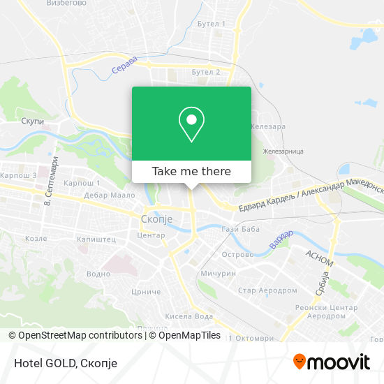Hotel GOLD map