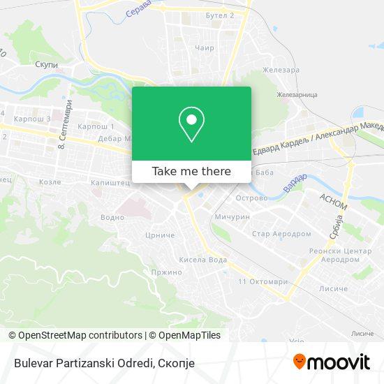 Bulevar Partizanski Odredi map