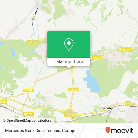 Mercedes Benz Disel Technic map