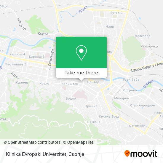 Klinika Evropski Univerzitet map