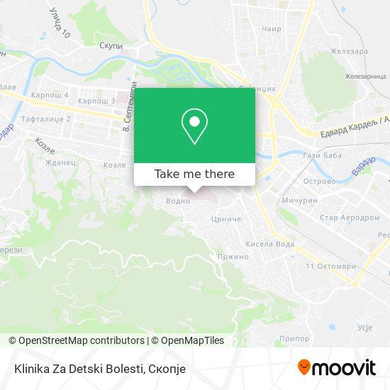 Klinika Za Detski Bolesti map