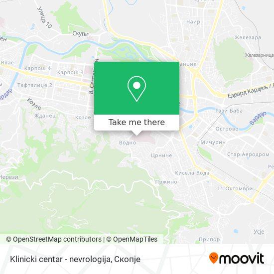 Klinicki centar - nevrologija map