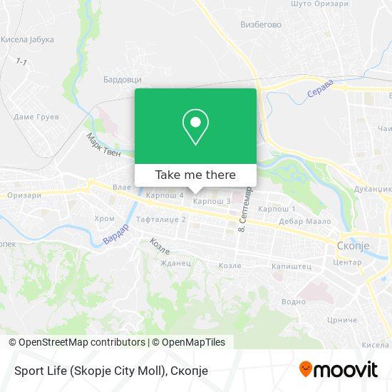 Sport Life (Skopje City Moll) map