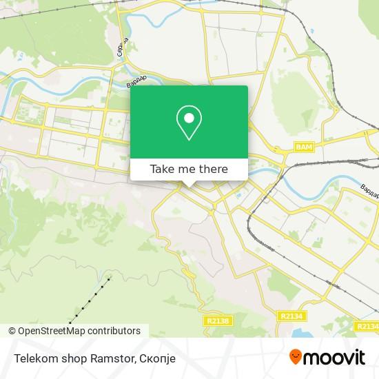 Telekom shop Ramstor map
