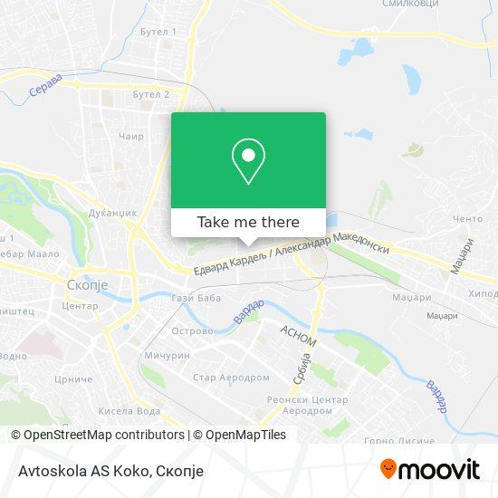 Avtoskola AS Koko map