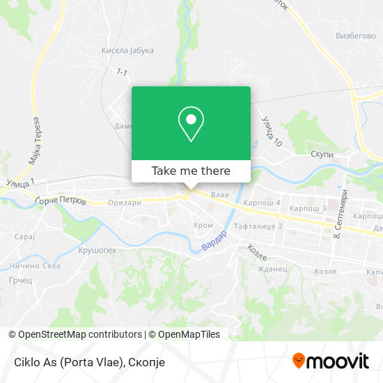 Ciklo As (Porta Vlae) map
