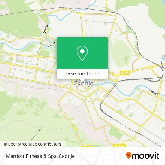 Marriott Fitness & Spa map