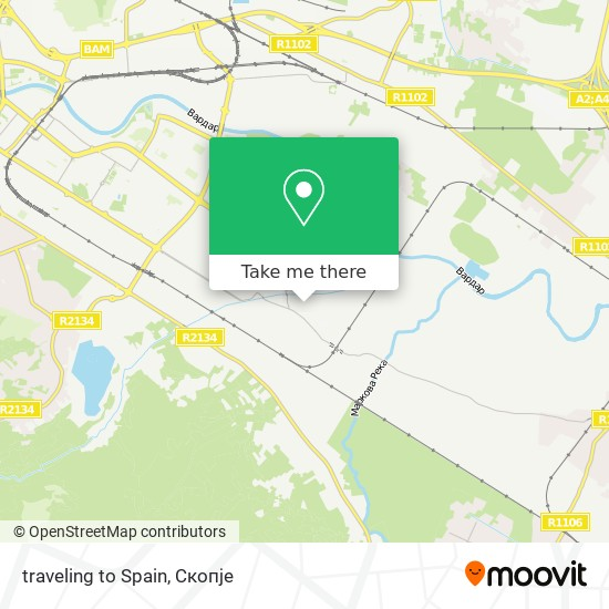 traveling to Spain map