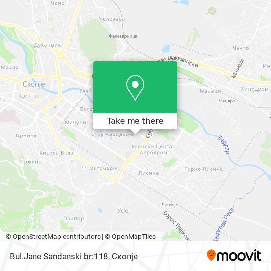 Bul.Jane Sandanski br:118 map