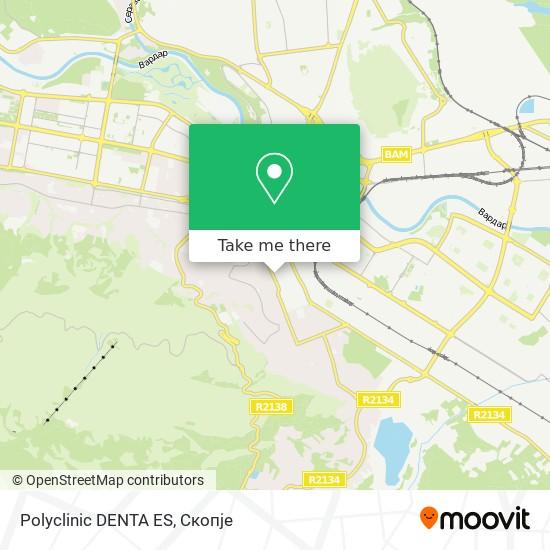 Polyclinic DENTA ES map