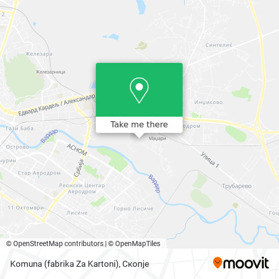 Komuna (fabrika Za Kartoni) map