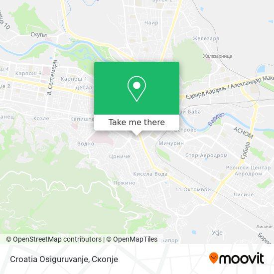 Croatia Osiguruvanje map