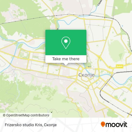 Frizersko studio Kris map