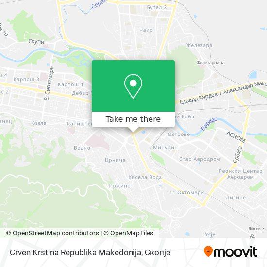 Crven Krst na Republika Makedonija map