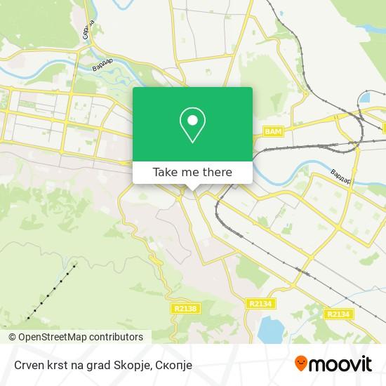 Crven krst na grad Skopje map