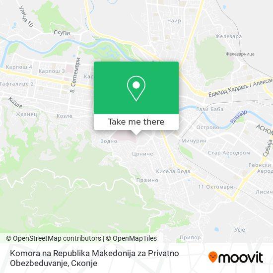 Komora na Republika Makedonija za Privatno Obezbeduvanje map