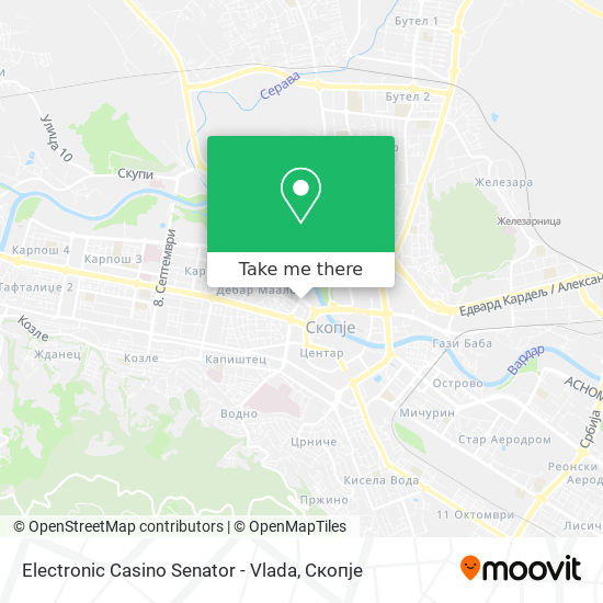 Electronic Casino Senator - Vlada map