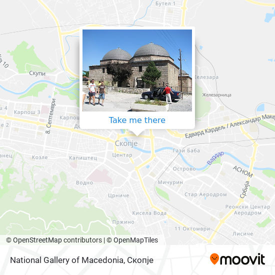 National Gallery of Macedonia map