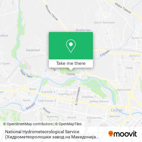 National Hydrometeorological Service (Хидрометеоролошки завод на Македонија (УХМР)) map
