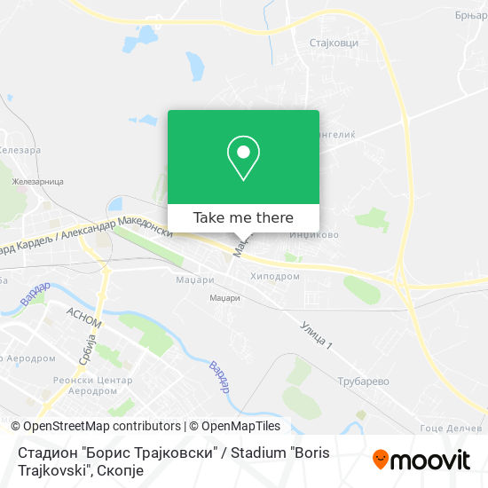 "Стадион ""Борис Трајковски"" / Stadium ""Boris Trajkovski"" map"