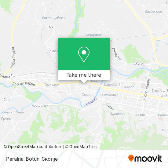Peralna, Botun map