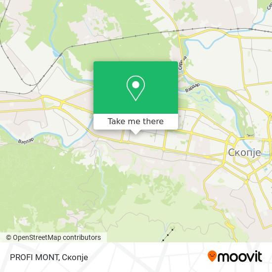 PROFI MONT map