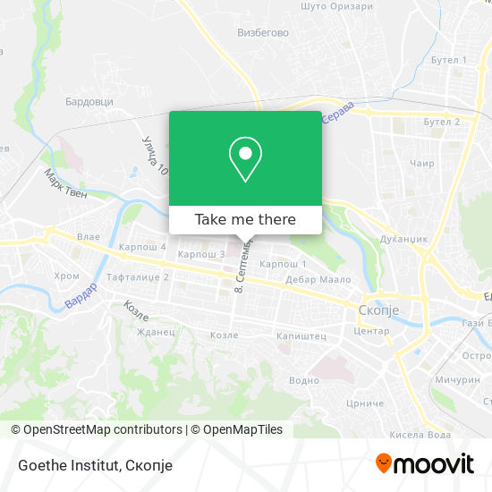Goethe Institut map