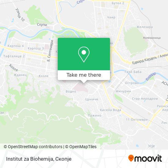 Institut za Biohemija map