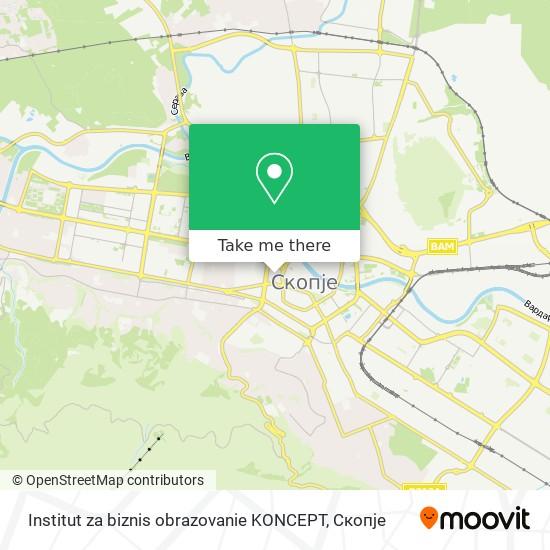 Institut za biznis obrazovanie KONCEPT map