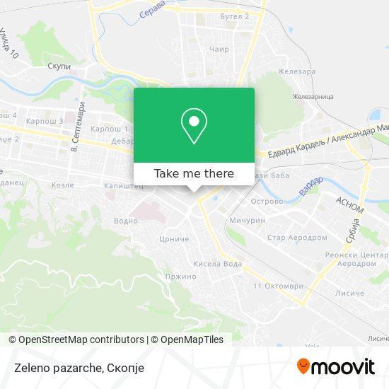 Zeleno pazarche map