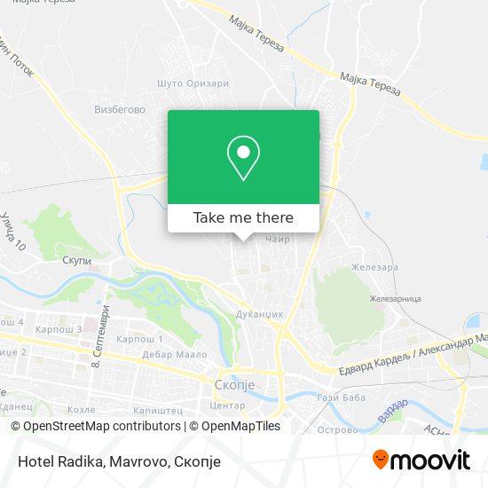 Hotel Radika, Mavrovo map