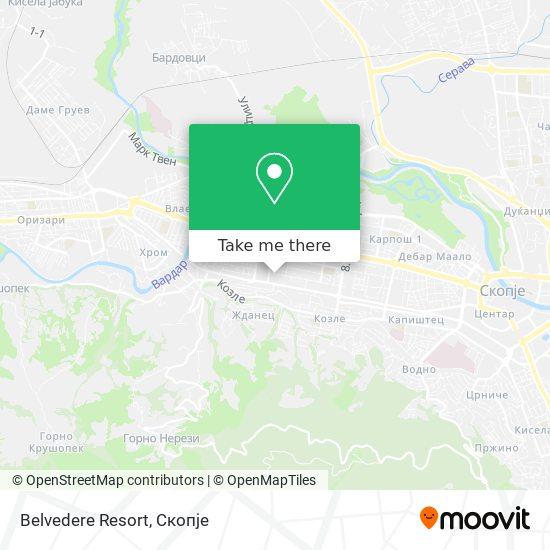 Belvedere Resort map