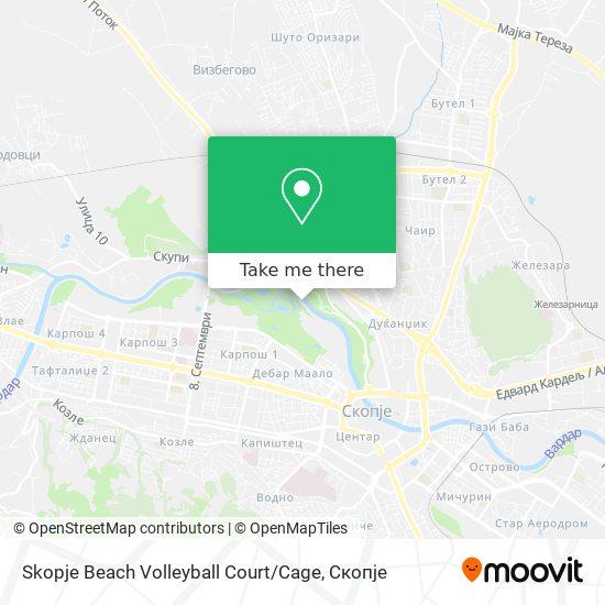 Skopje Beach Volleyball Court / Cage map
