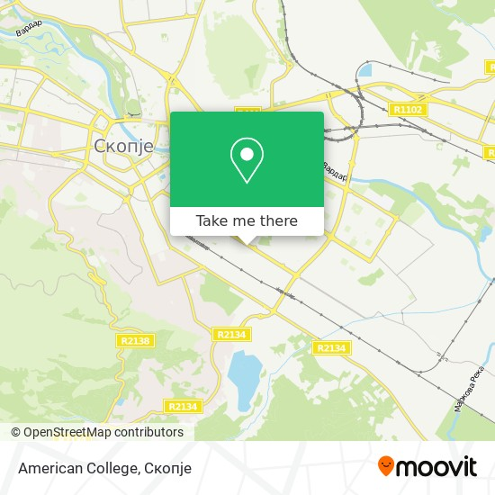 American College map
