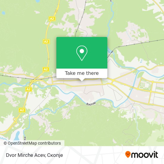 Dvor Mirche Acev map