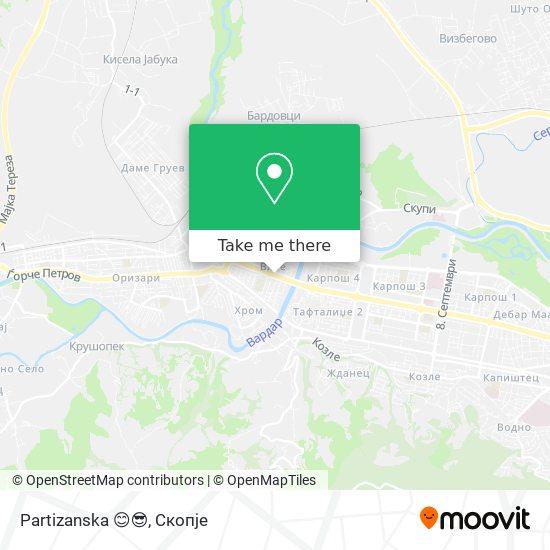 Partizanska 😊😎 map