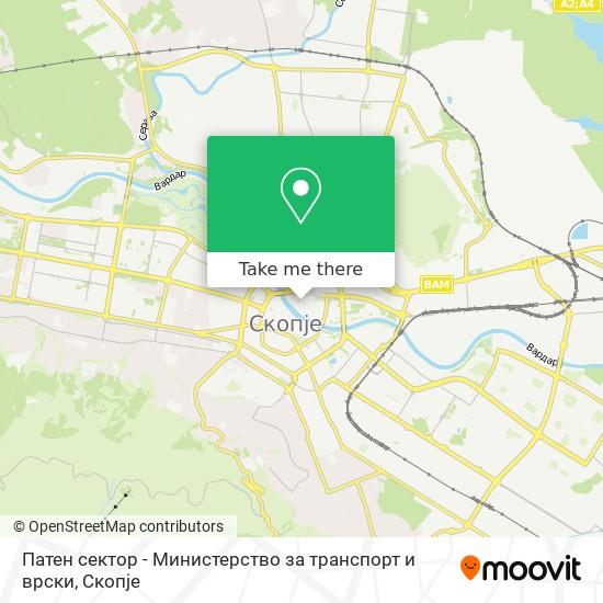 Патен сектор - Министерство за транспорт и врски map