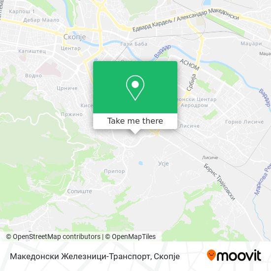 Македонски Железници-Транспорт map
