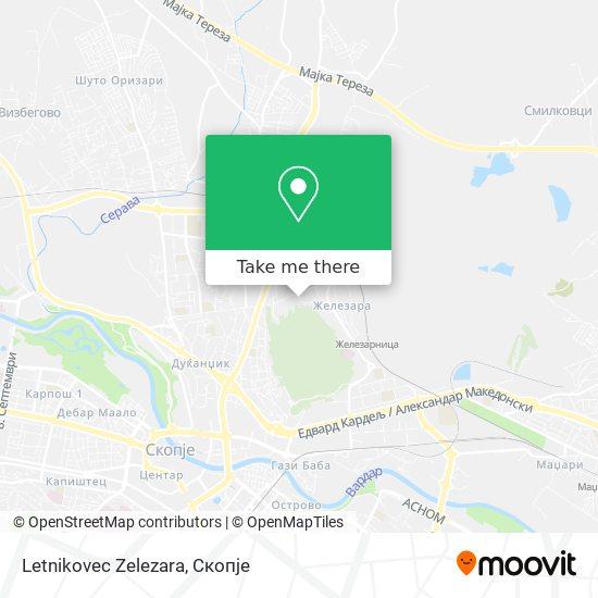 Letnikovec Zelezara map