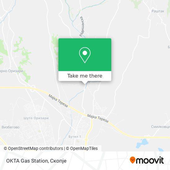 OKTA Gas Station map