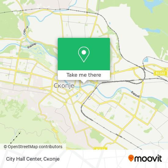 City Hall Center map