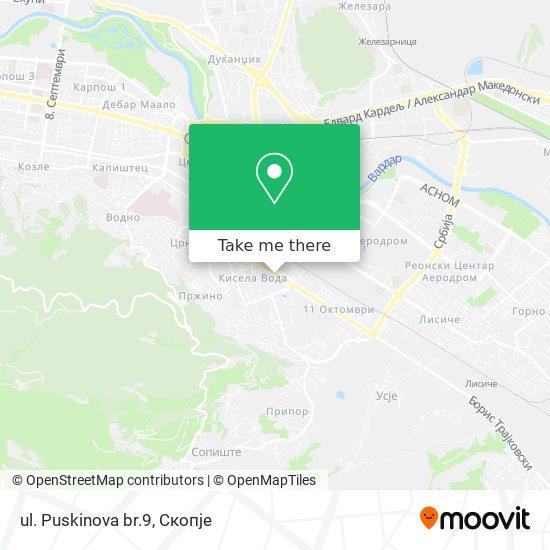 ul. Puskinova br.9 map