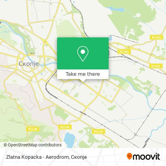 Zlatna Kopacka - Aerodrom map