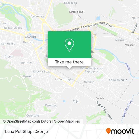 Luna Pet Shop map