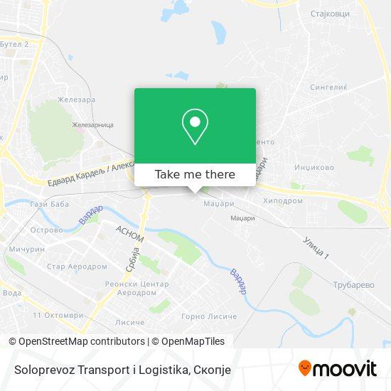 Soloprevoz Transport i Logistika map