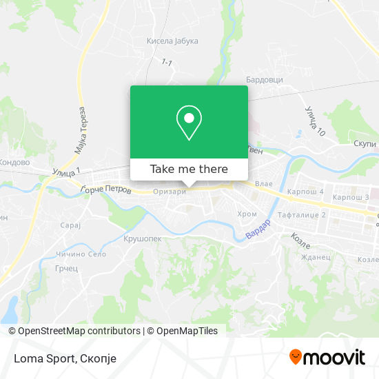 Loma Sport map