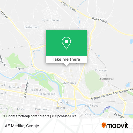 AE Medika map