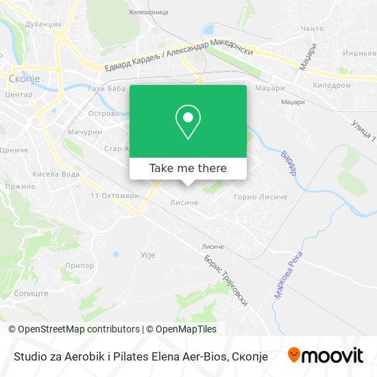 Studio za Aerobik i Pilates Elena Aer-Bios map